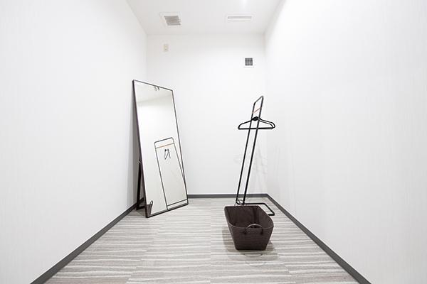 個室のドレッシングルーム